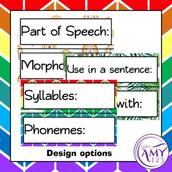Word of the Day/Week - Vocabulary Display or Activity + Worksheets