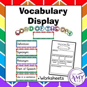 Word of the Day/Week - Vocabulary Display or Activity + Wo
