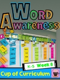 Vocabulary - Word of the Day - WEEK 8