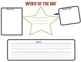 Word of the Day Worksheet
