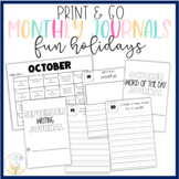 Monthly PRINT & GO Foldable Writing Journals Bundle: Obscu