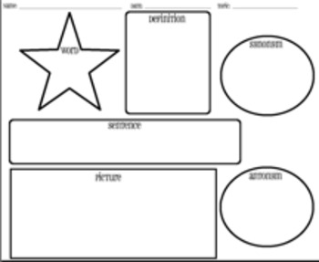 Word of the Day or Week Graphic Organizer