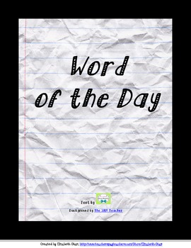 Word of the Day printable