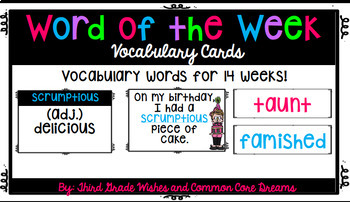 Word of the Week Vocabulary Cards