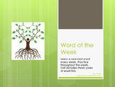Vocabulary: Word of the Week (root word practice)