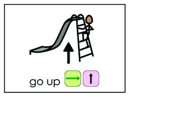 Word of the Week 26: Up/Down - BOARDMAKER - assistive technology, aac, speech