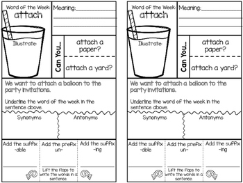 Word of the Week for Interactive Notebooks