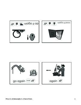 Word of the Week 33: Again - BOARDMAKER - assistive technology, aac, speech