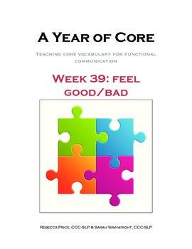 Word of the Week 39: Feel/Good/Bad - BOARDMAKER - assistiv