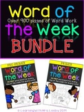 Word of the Week - Bundle - Dolch Pre-Primer and Primer {92 Words}