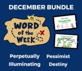 Word of the Week DEC Vocabulary Bundle: 4 Words (videos, q