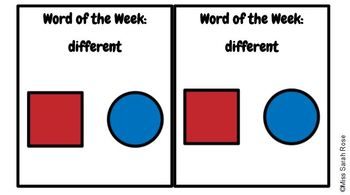Word of the Week: DIFFERENT adapted book