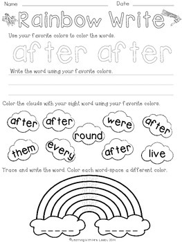 Word of the Week - Dolch First Grade List
