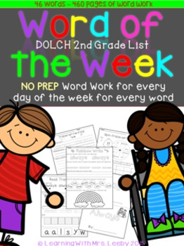 Word of the Week - Dolch Second Grade List