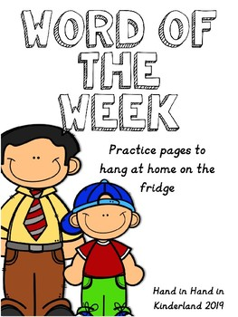 Word of the Week Home Practice Page