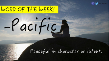 Word of the Week! Including Differentiated Independent Activities.