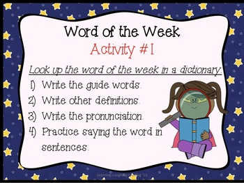 Word of the Week (Literacy Center)