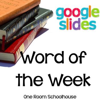 Word of the Week No Prep Digital FIle