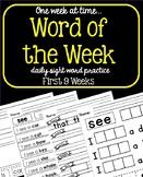 Word of the Week - No Prep Sight Word Practice