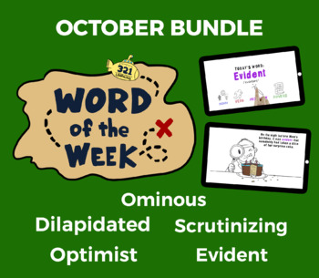 Word of the Week OCT Vocabulary Bundle: 5 Words (videos, quizzes, activities)