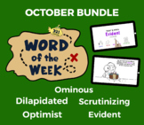 Word of the Week OCT Vocabulary Bundle: 5 Words (videos, q