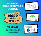 Word of the Week: One Academic Year Vocabulary Bundle