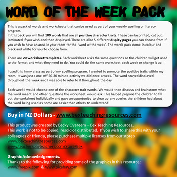 Word of the Week Pack