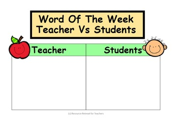 Word of the Week Vocabulary for the WHOLE YEAR+Class Games (Australian/ British)