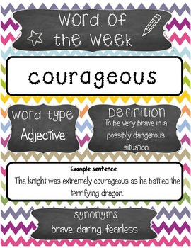 Word of the Week Posters