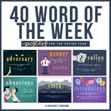 Word of the Week Posters (for the ENTIRE year)