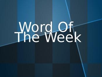 Word of the Week Powerpoint
