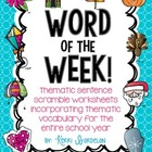 Word of the Week! Print & Go Sentence Scramble Worksheets