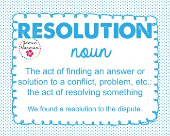 Word of the Week - Resolution