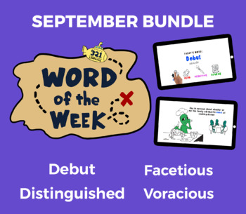 Word of the Week SEPT Vocabulary Bundle: 4 Words (Videos, Quizzes, Activities)
