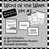 Word of the Week Set 1