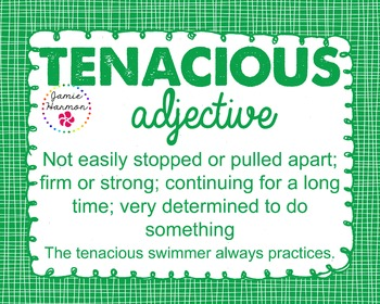 Word of the Week - Tenacious