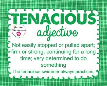 Word of the Week - Tenacious