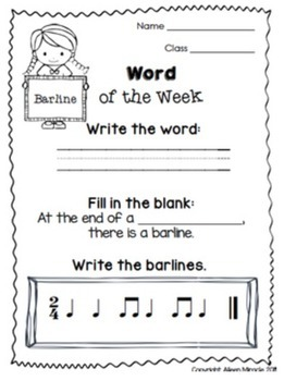 Word of the Week {Visuals and Activities to Practice Musical Vocabulary}