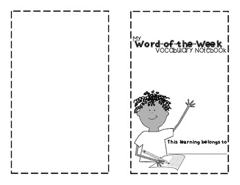 Word of the Week Vocabulary Book Freebie