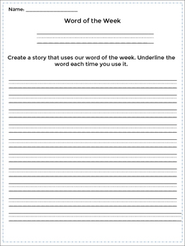 Word of the Week - For Every Week of the Year! Activity Pack & Display Lettering