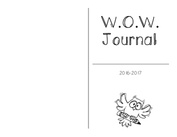 Word of the Week (Vocabulary) Journal