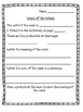 Word of the Week: Vocabulary/Dictionary Activity