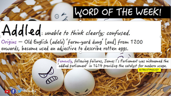 Word of the Week (Week 3) Including Differentiated Independent Activities.