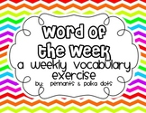 Word of the Week - Weekly Vocabulary Enrichment