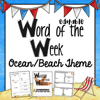 Word of the Week- Word Study~ EDITABLE