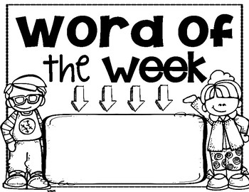 Word of the Week Sign Writing Reading Spelling Language Vocabulary FREEBIE