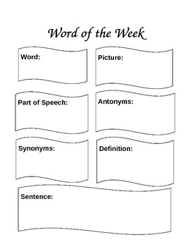 Word of the Week chart