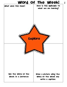 Word of the Week for the WHOLE year- Fourth Grade Social Studies