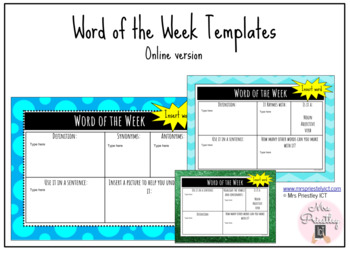 Word of the Week online templates