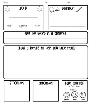 Word of the Week/Day Graphic Organizer